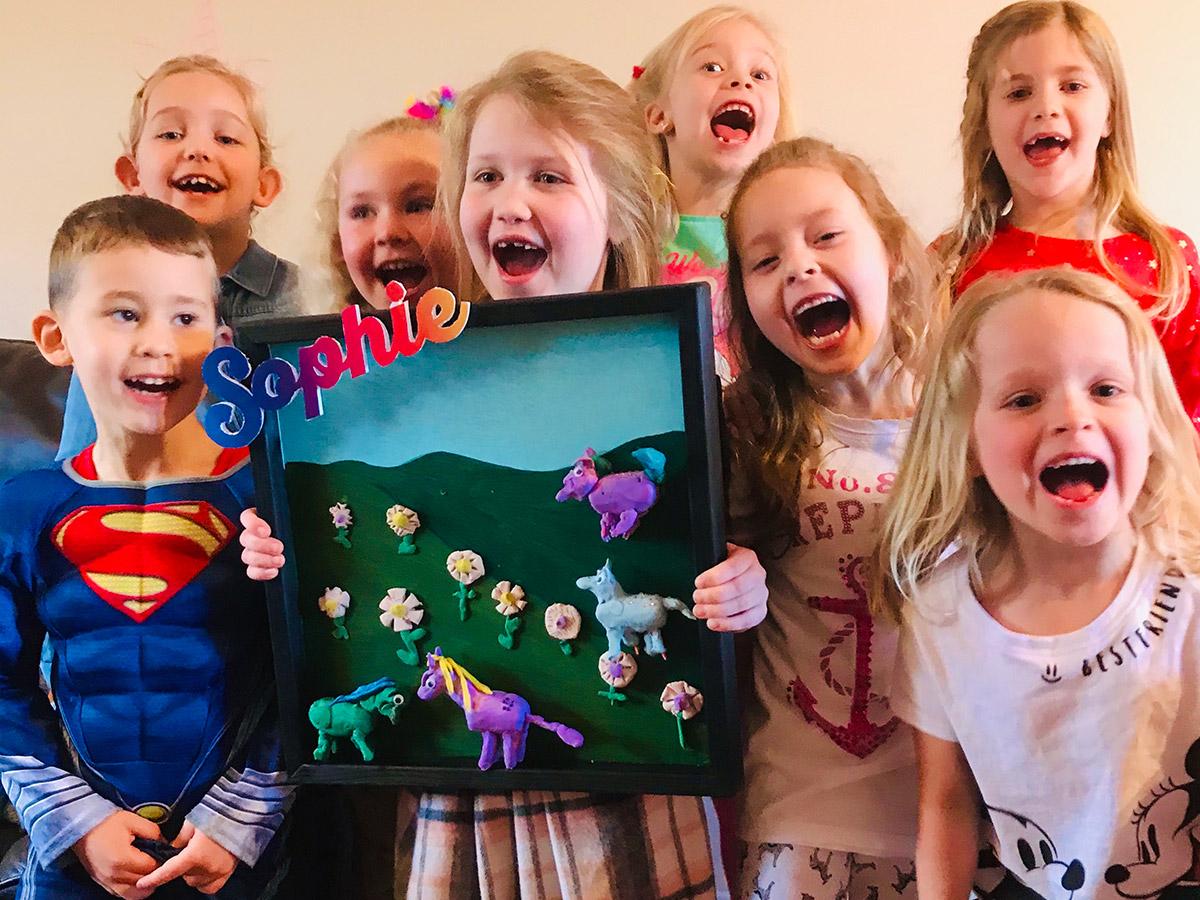 Childrens art parties